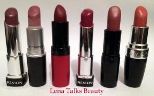 Revlon Lip Butter - Sugar Plum, MAC Syrup, Rimmel Kate Moss 107, Revlon Lip Butter - Raspberry Pie, Art Deco 23, Avon Skin