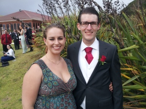 Me and Sam at a friend's wedding earlier this year