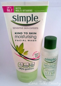 Simple Facial Wash and eye make up remover
