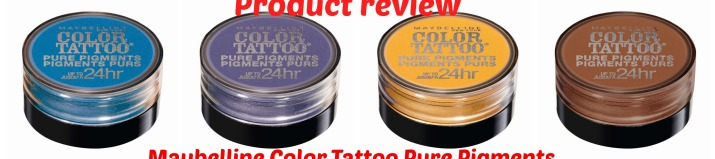 Maybelline Color Tattoo Pure Pigments collage