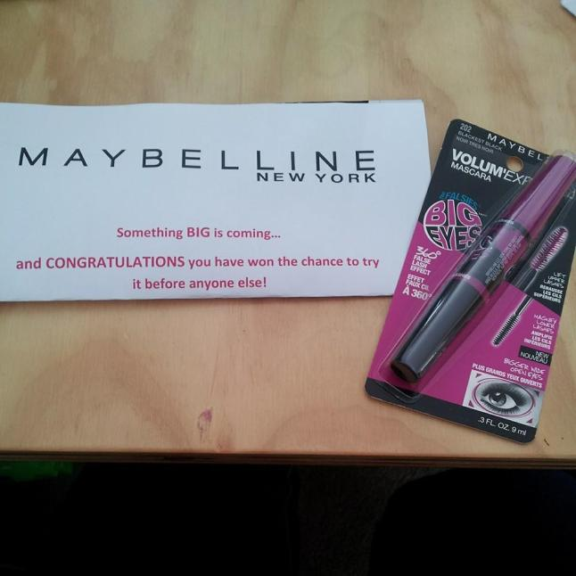 Maybelline the falsies big eyes and letter
