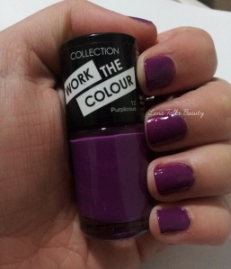 Collection Cosmetics Nail Polish Purplicious