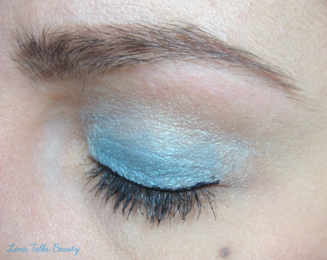 Maybelline and Models Prefer blue eyeshadow