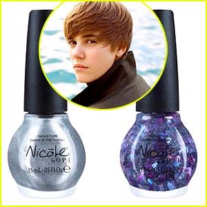 Justin Bieber nail polish