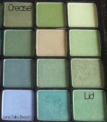 Models Prefer green eyeshadows