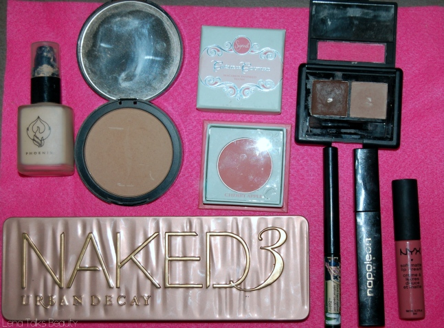 Naked 3, ELF brow kit, nyx soft matte lip cream milan
