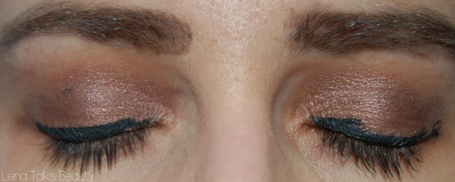 Naked 3 eyeshadow and the balm schwing eyeliner