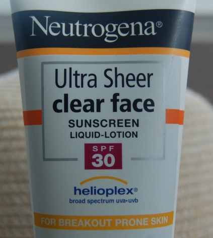 Neutrogena Ultra sheer clear face sunscreen-001