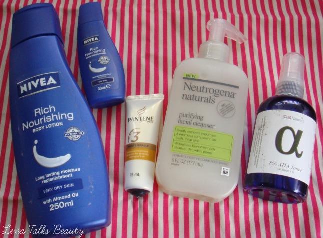 Nivea, Pantene, Neutrogena Naturals, Silk Naturals Empties